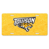 License Plate-Towson Yellow Tiger Stripe