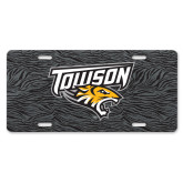 License Plate-Towson Charcoal Tiger Stripe