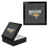 Ebony Black Accessory Box With 6 x 6 Tile-Towson Charcoal Tiger Stripe