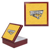 Red Mahogany Accessory Box With 6 x 6 Tile-Towson Yellow Tiger Stripe