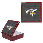 Red Mahogany Accessory Box With 6 x 6 Tile-Towson Charcoal Tiger Stripe