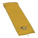 Gold Golf Towel-Tiger Head