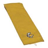 Gold Golf Towel-T w/Tiger Head