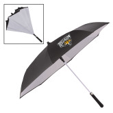 48 Inch Auto Open Black/White Inversion Umbrella-Primary Athletics Mark