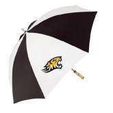 62 Inch Black/White Umbrella-Tiger Head