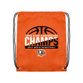 Orange Drawstring Backpack-2017 Lone Star Conference Champs - Mens Basketball