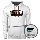 Contemporary Sofspun White Hoodie-UTPB Falcons
