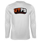 Performance White Longsleeve Shirt-UTPB Falcons