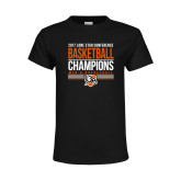 Youth Black T Shirt-2017 Lone Star Conference Champions - Mens Basketball
