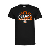 Youth Black T Shirt-2017 Lone Star Conference Champs - Mens Basketball