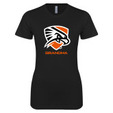 Next Level Ladies SoftStyle Junior Fitted Black Tee-Grandma