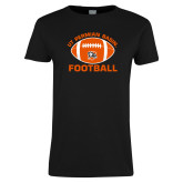 Ladies Black T Shirt-UT Permian Basin Arched w/ Full Ball