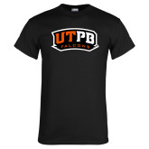 Black T Shirt-UTPB Falcons