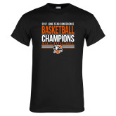 Black T Shirt-2017 Lone Star Conference Champions - Mens Basketball