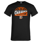 Black T Shirt-2017 Lone Star Conference Champs - Mens Basketball