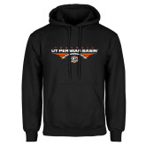 Black Fleece Hoodie-UT Permian Basin Football Flat w/ Football