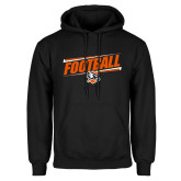 Black Fleece Hoodie-Football Slanted w/Falcon Shield