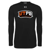 Under Armour Black Long Sleeve Tech Tee-UTPB Falcons