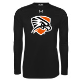 Under Armour Black Long Sleeve Tech Tee-Falcon Shield