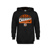 Youth Black Fleece Hoodie-2017 Lone Star Conference Champs - Mens Basketball