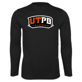 Performance Black Longsleeve Shirt-UTPB Falcons