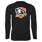 Performance Black Longsleeve Shirt-Falcon Shield