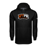 Under Armour Black Performance Sweats Team Hoodie-UTPB Falcons
