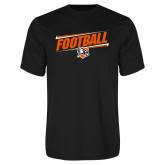 Performance Black Tee-Football Slanted w/Falcon Shield