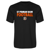 Performance Black Tee-UT Permian Basin Football Stacked