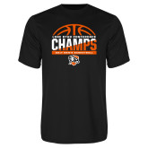 Performance Black Tee-2017 Lone Star Conference Champs - Mens Basketball