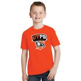 Youth Orange T Shirt-Official Logo
