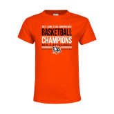 Youth Orange T Shirt-2017 Lone Star Conference Champions - Mens Basketball