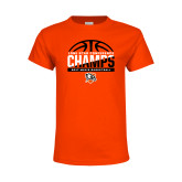 Youth Orange T Shirt-2017 Lone Star Conference Champs - Mens Basketball