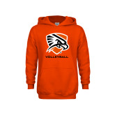 Youth Orange Fleece Hoodie-Volleyball