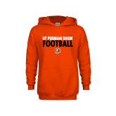 Youth Orange Fleece Hoodie-UT Permian Basin Football Stacked
