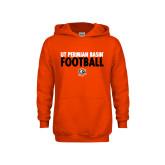 Youth Orange Fleece Hoodie-UT Permian Basin Football Stacked