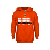 Youth Orange Fleece Hoodie-UT Permian Basin Basketball Repeating