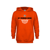 Youth Orange Fleece Hoodie-UT Permian Basin Basketball w/Net Icon
