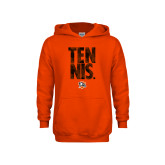 Youth Orange Fleece Hoodie-Tennis Stacked