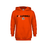Youth Orange Fleece Hoodie-Volleyball Flat w/ Ball