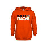 Youth Orange Fleece Hoodie-Fear The Falcons