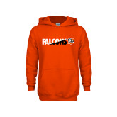 Youth Orange Fleece Hoodie-Falcons Split Two-Tone