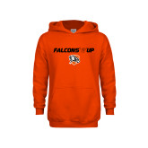 Youth Orange Fleece Hoodie-Falcons Up