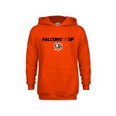 Youth Orange Fleece Hoodie-Falcons Up