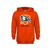 Youth Orange Fleece Hoodie-Softball