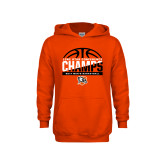 Youth Orange Fleece Hoodie-2017 Lone Star Conference Champs - Mens Basketball