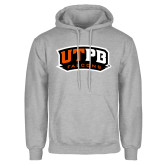 Grey Fleece Hoodie-UTPB Falcons
