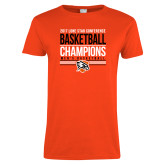 Ladies Orange T Shirt-2017 Lone Star Conference Champions - Mens Basketball
