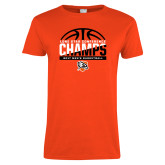 Ladies Orange T Shirt-2017 Lone Star Conference Champs - Mens Basketball