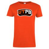 Ladies Orange T Shirt-UTPB Falcons